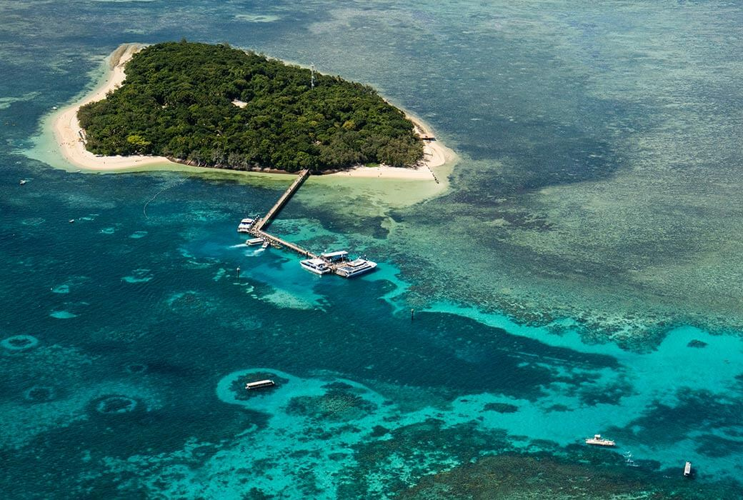 Birdseye view of Green Island