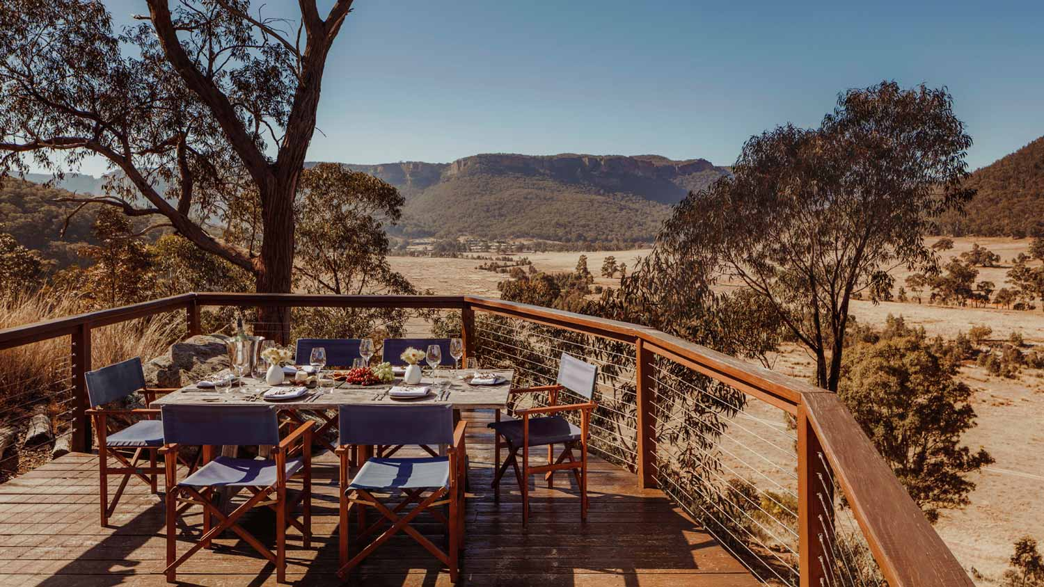Picnic deck at Emirates One&Only Wolgan Valley