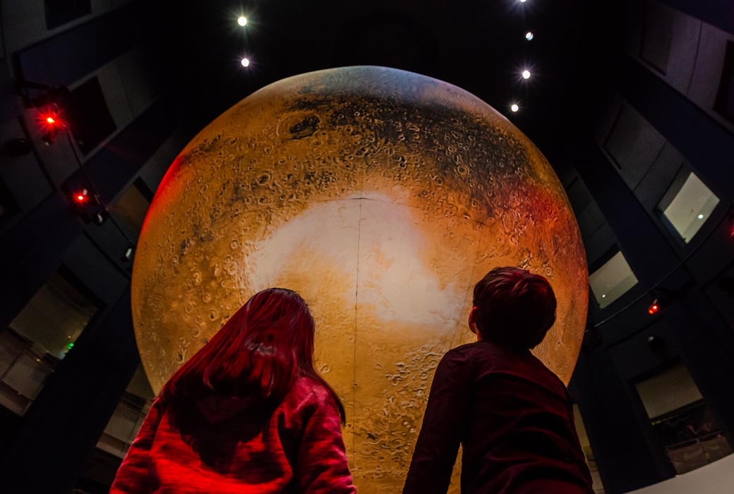 Questacon's 7-metre Mars globe