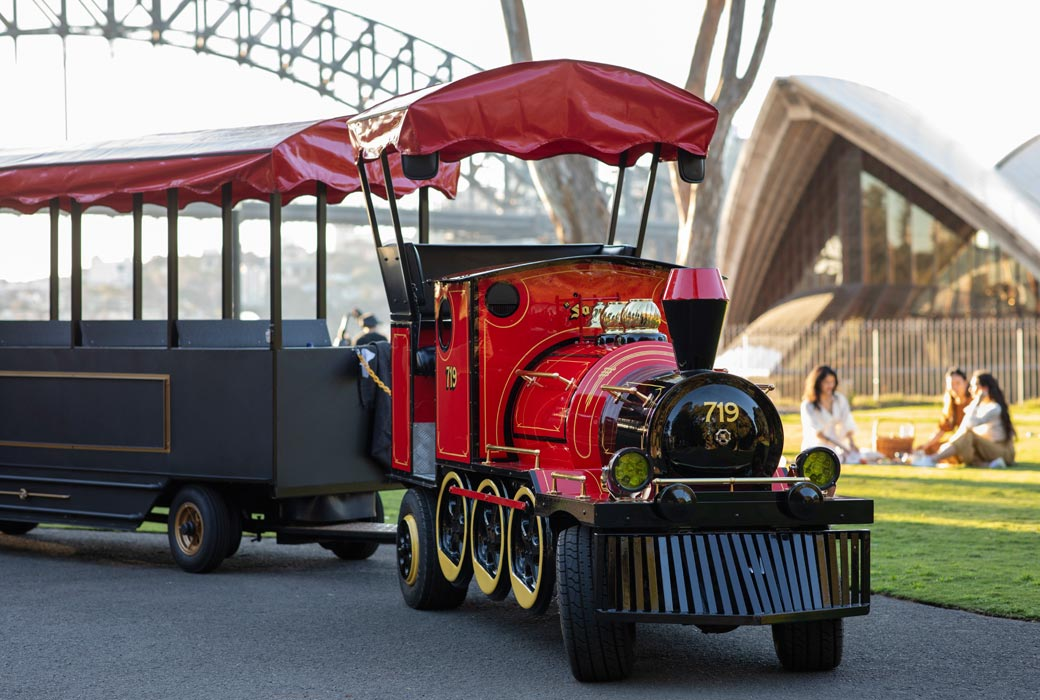 The Choo Choo Express train in the Royal Botanic Garden Sydney.