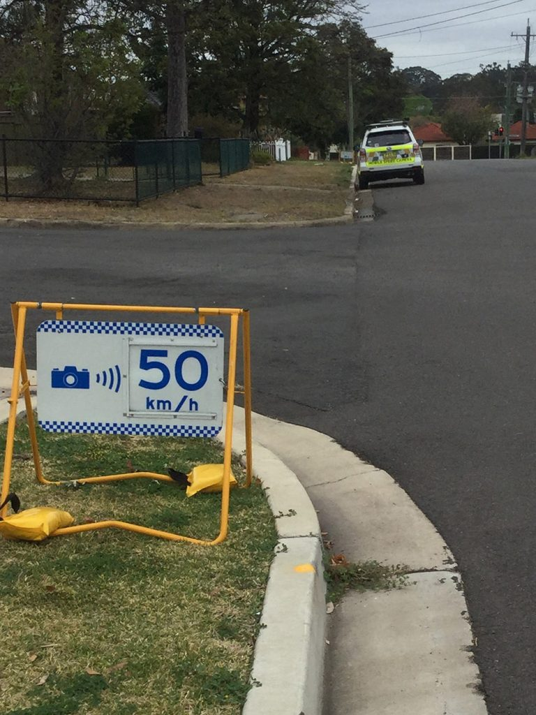 NSW speed camera warning signs