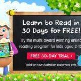 Try the multi-award winning online reading program ABC Reading Eggs – FREE for 30 days!