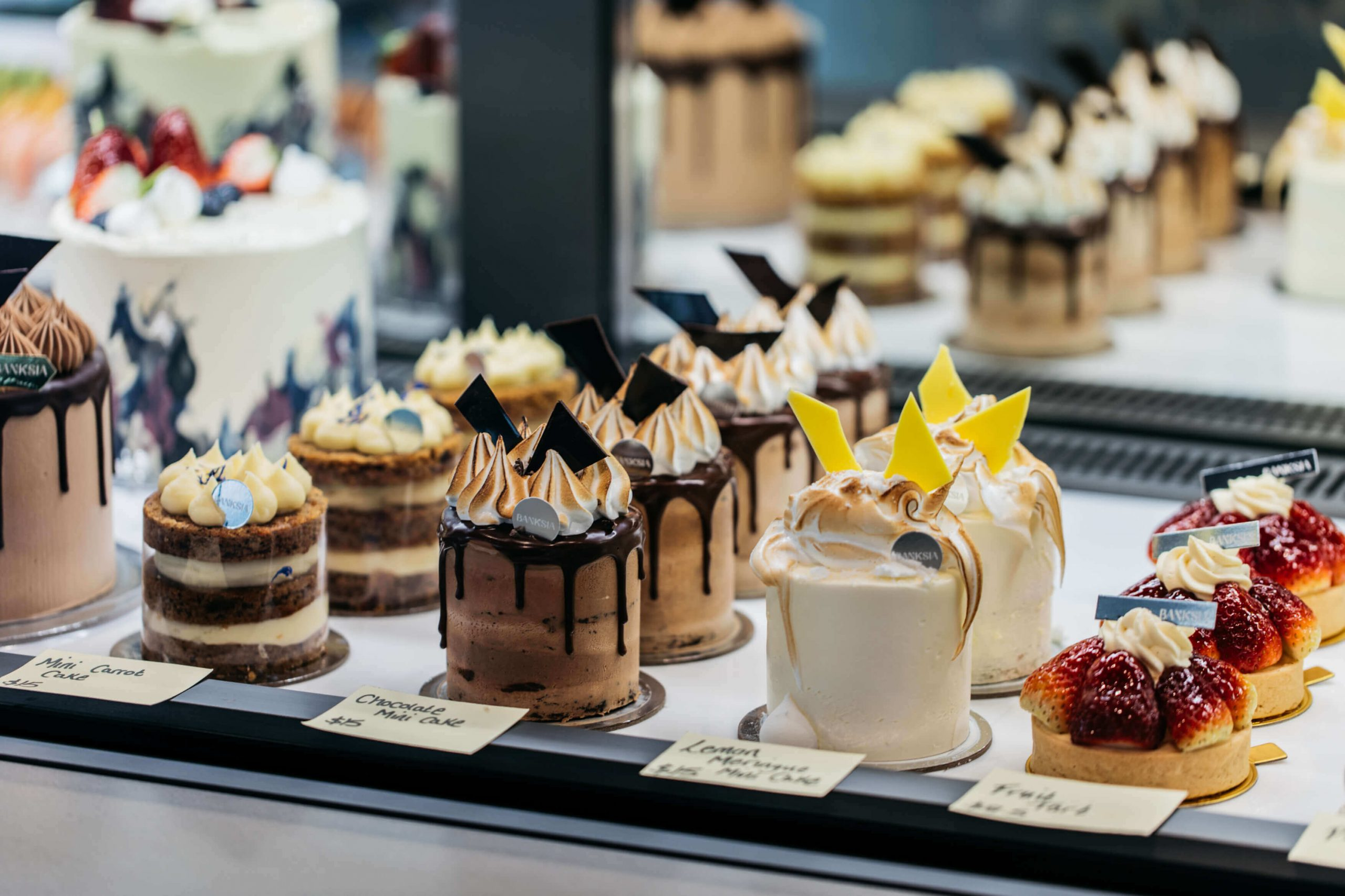 Banksia Bakehouse cake selection