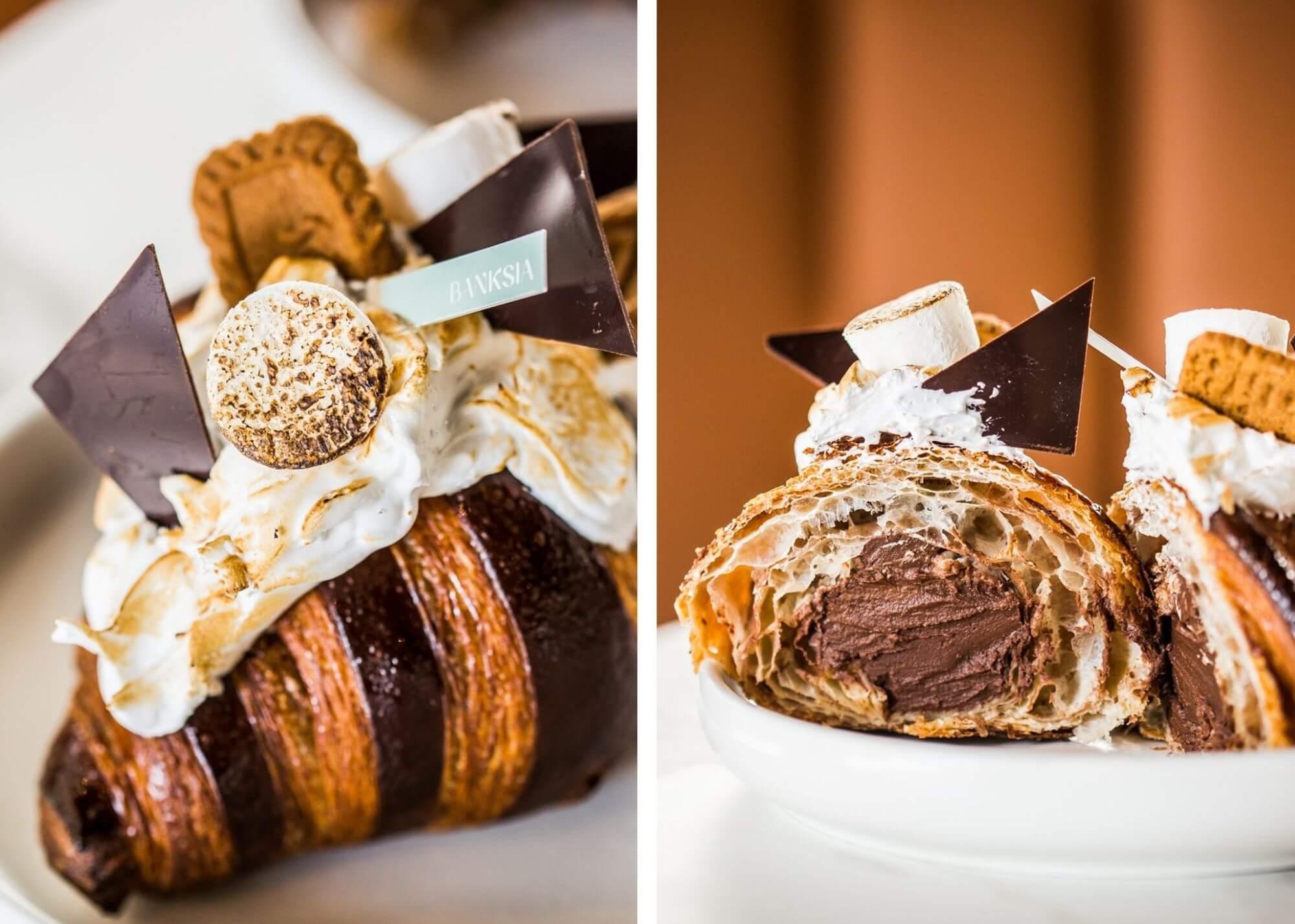 The Banskia Bakehouse S'mores croissant