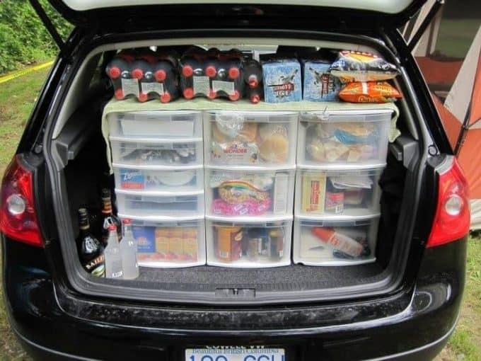 DIY camping food storage pantry