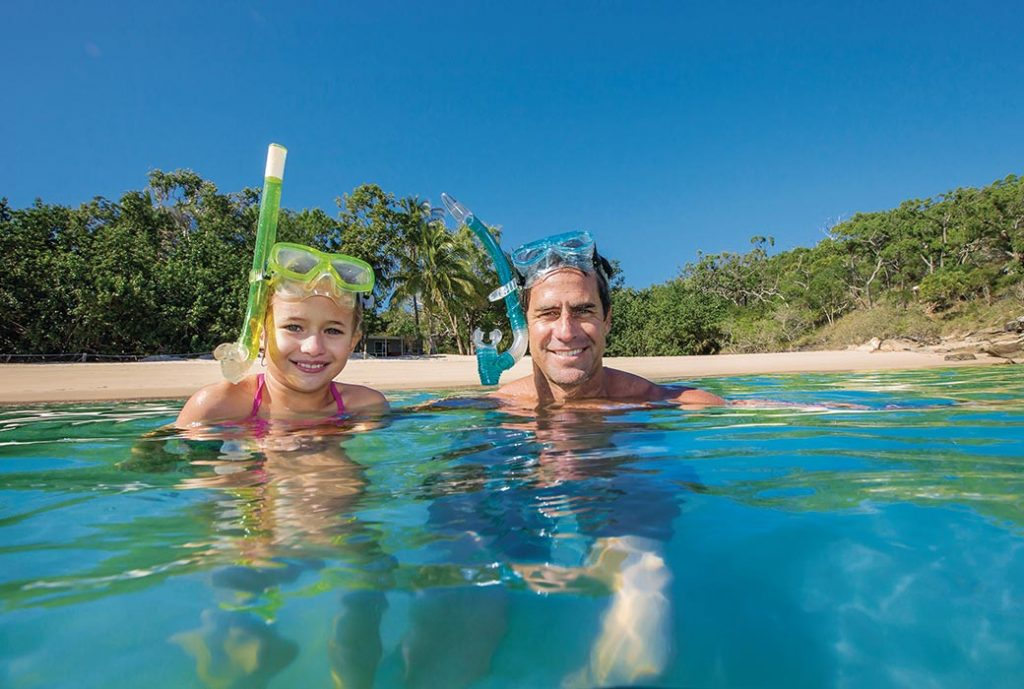 Father and daughter on Great Keppel Island