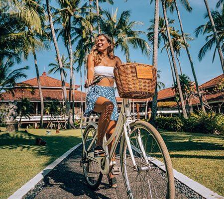 Hire a bicycle at Meliá Bali
