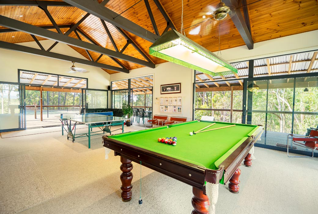 Recreational Centre at Banjos Bushland Retreat's