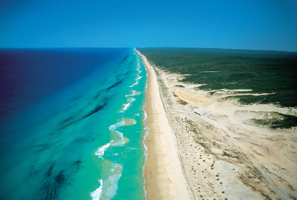 Aerial of 75 Mile Beach Mandatory