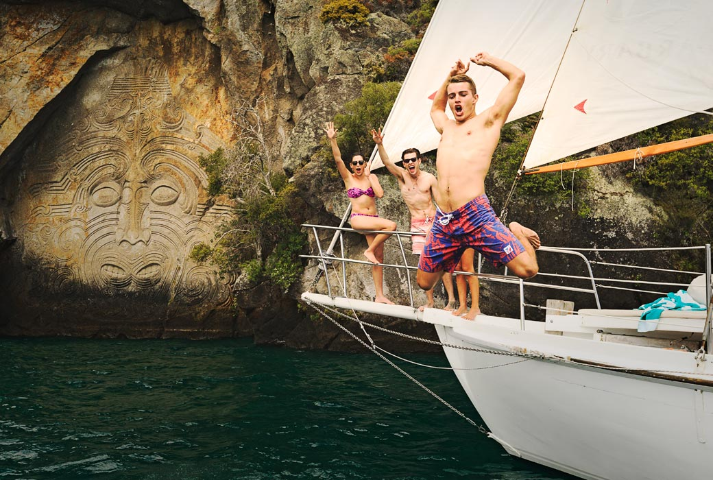 Mine Bay Lake Taupo New Zealand North Island holiday