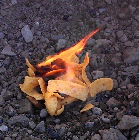 corn chips kindling firestarter
