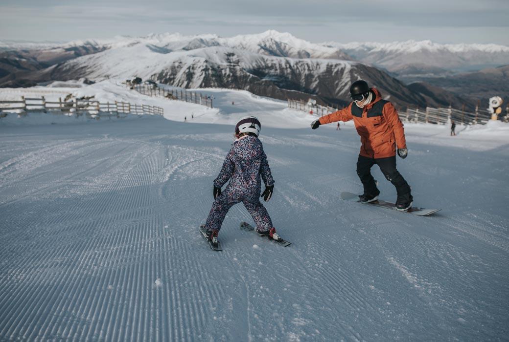 Ski lesson at Cardrona Alpine Resort