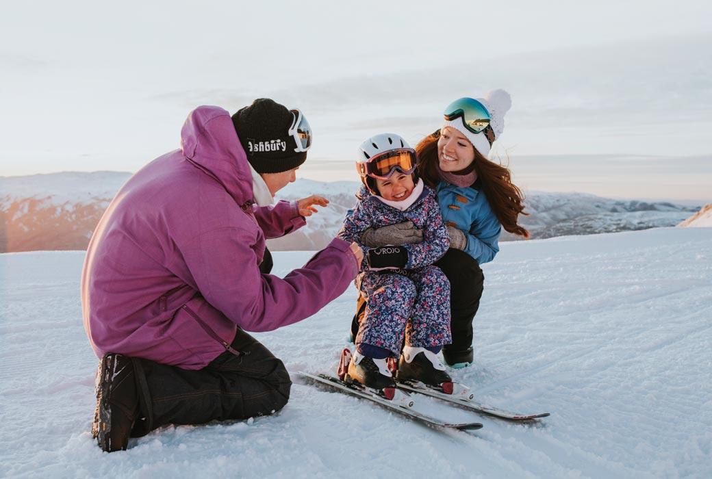 Family at Cardrona Alpine Resort