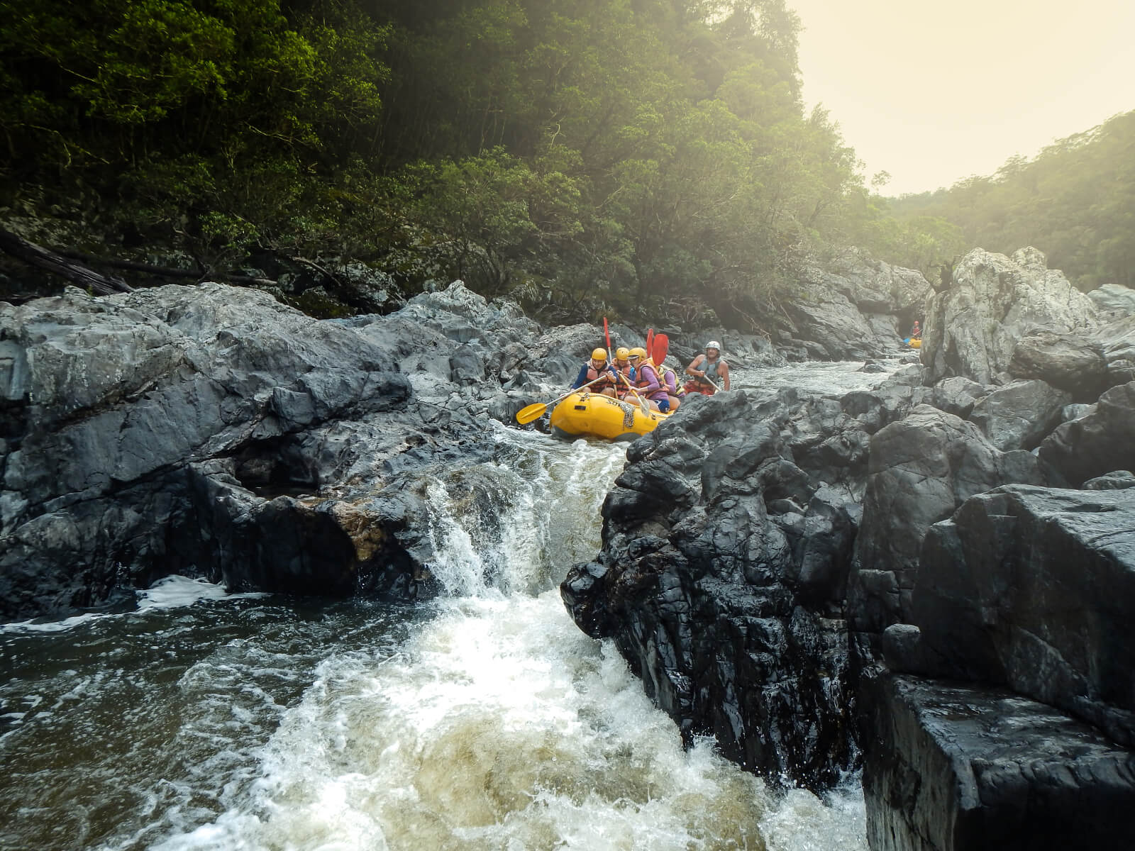 White water rafting in Coffs Harbour with kids