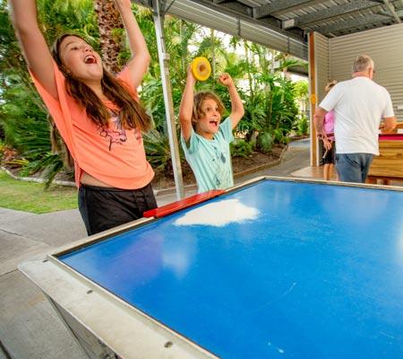 Games room at Hervey Bay Tourist Park