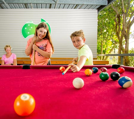 Pool table at Hervey Bay Tourist Park