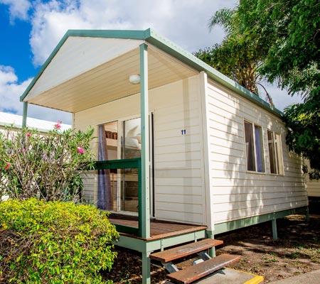 Econemy cabin at Hervey Bay Tourist Park