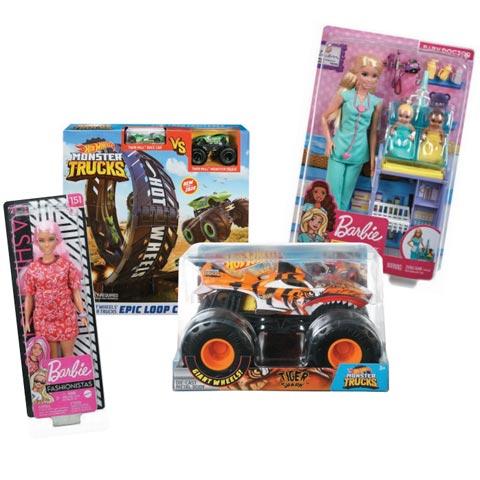 Hot Wheels & Barbie prize packs