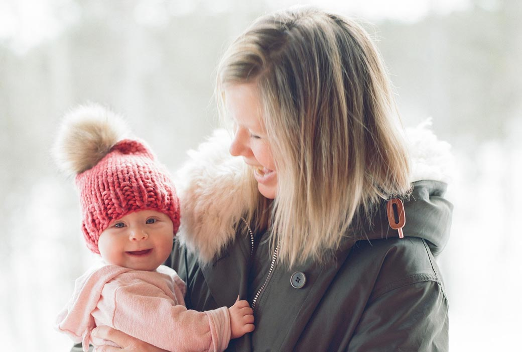 Anna Cole with her daughter Signe