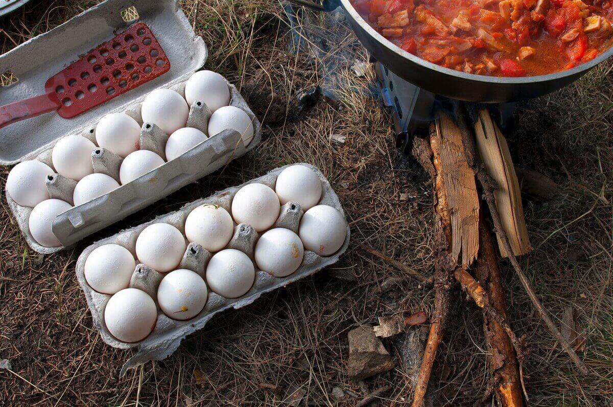 eggs camping