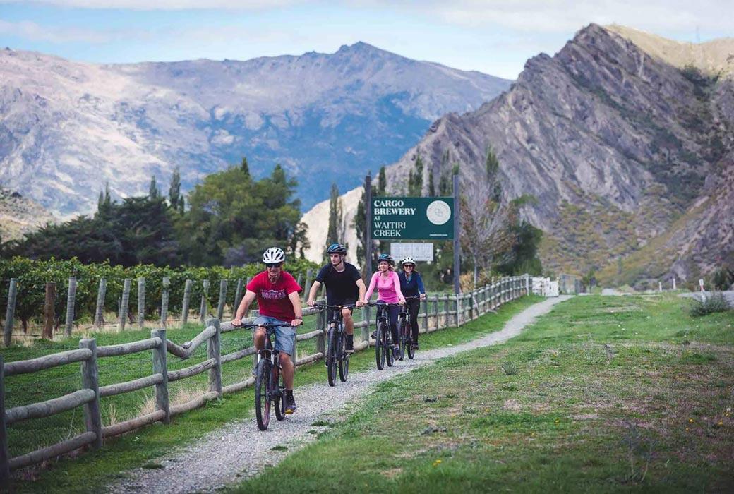 Bike to Queenstown wineries