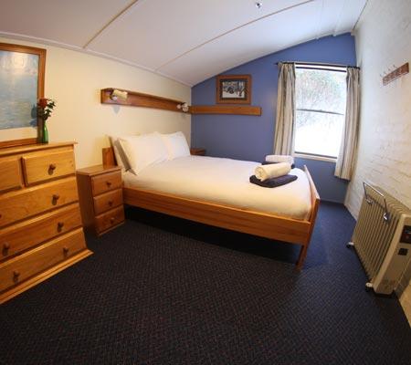Queen room at Snowbird Ski Lodge