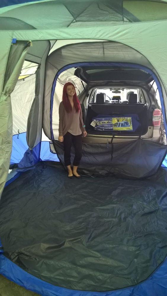tent camping hack bed space