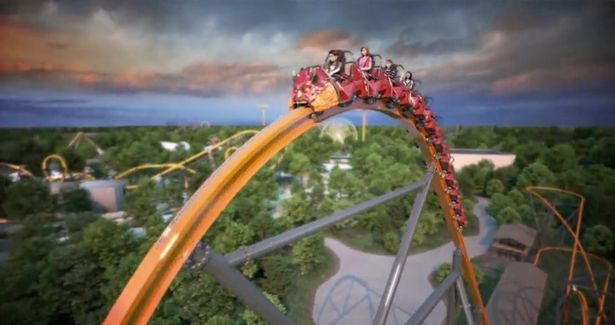 The Jersey Devil Roller coaster at Six Flags