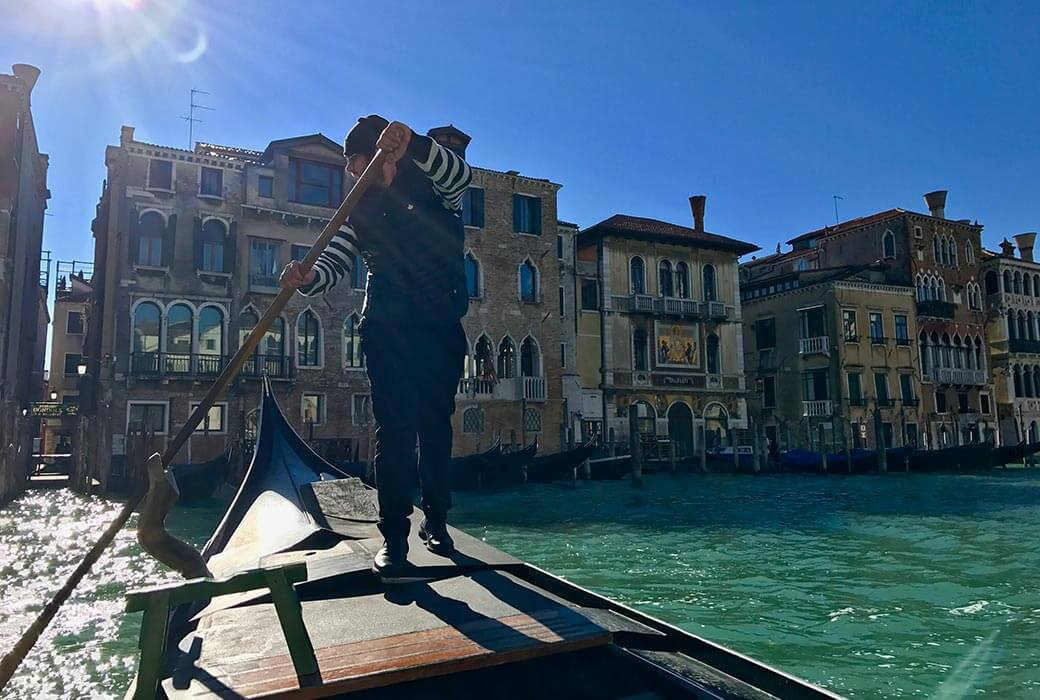 A traghetto is a cheap and fun way of crossing the canals of Venice