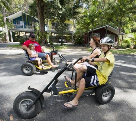 Pedal bikes at BIG4 Nambucca Beach Holiday Park