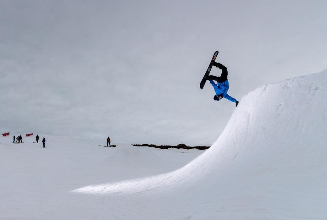 Snowboarding tricks hand plant