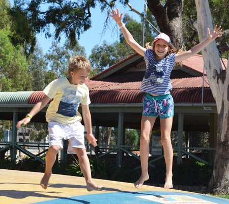 Jumping pillow at Merool Holiday Park