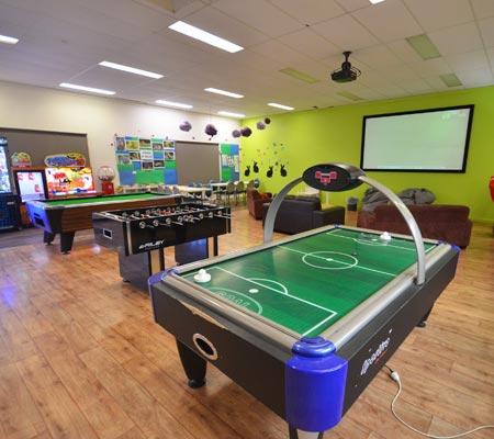 Games room at Merool Holiday Park