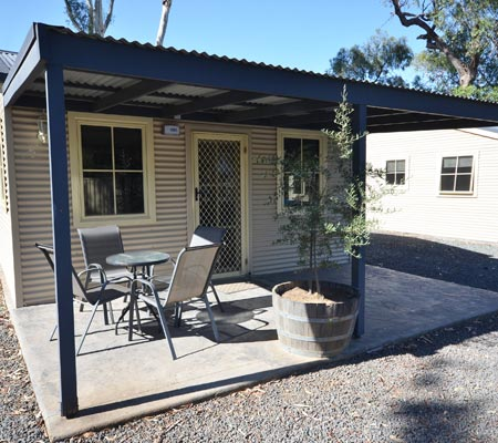 Two Bedroom Inland Settlers Cabin at Merool Holiday Park