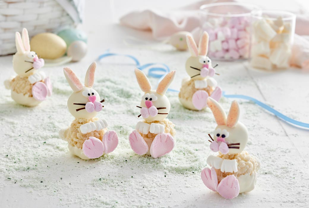 White crackle bunnies recipe from Copha