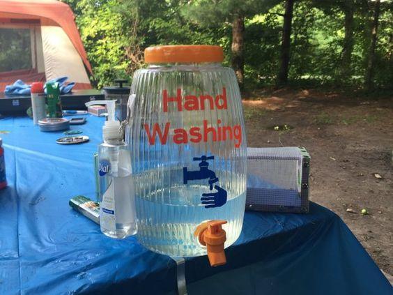 Camping washing hack