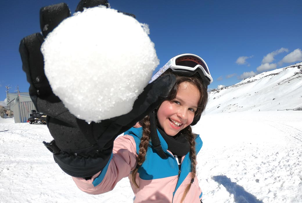 Thredbo Resort snowball play