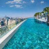 Would you swim in the world's highest infinity pool?
