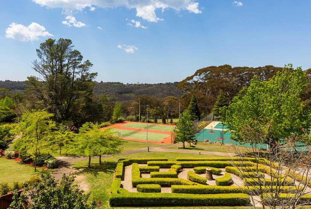 Garden maze at Fairmont Resort & Spa Blue Mountains