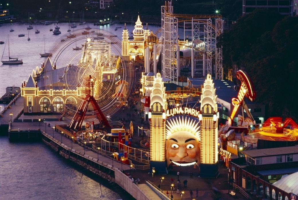 Luna Park Sydney roller coaster