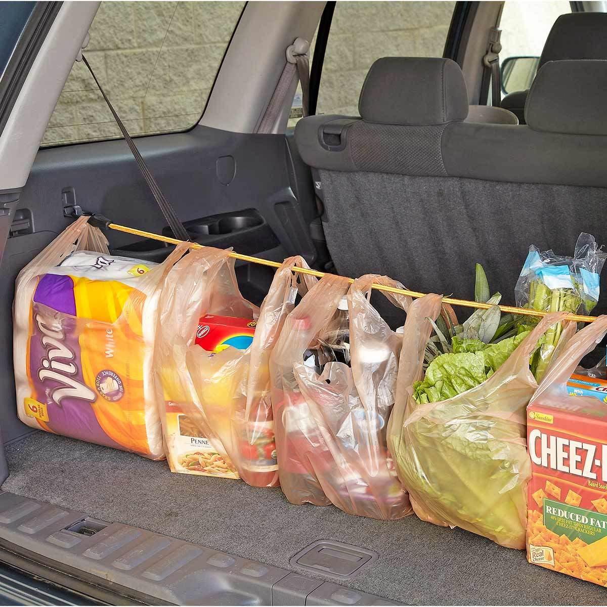 Ocky strap hack car groceries