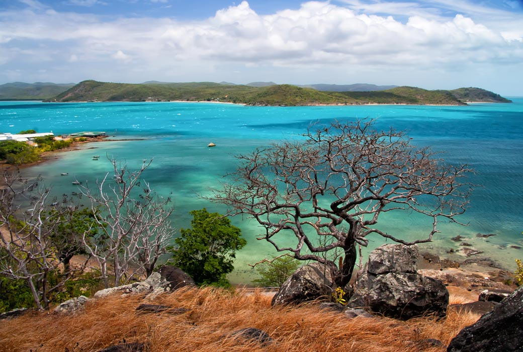 Beautiful view from Thursday Island Torres Straits, Queensland Australia