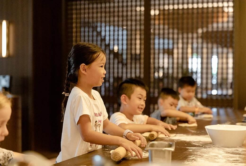 Kids cooking class at JW Marriott Gold Coast