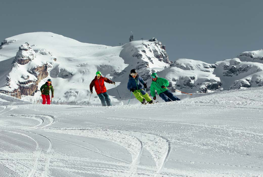 best skiing in Switzerland in the Engelberg-Titlis region