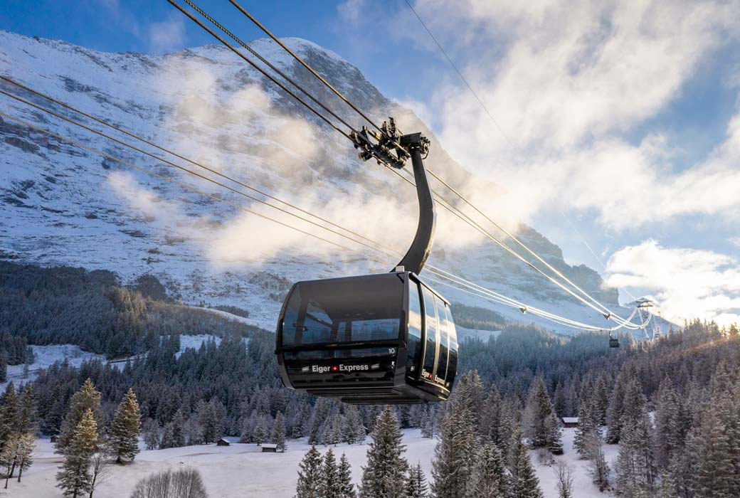 The Eiger Express to the best skiing in Switzerland