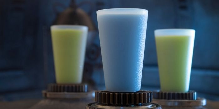 Blue Milk and green milk at Disney