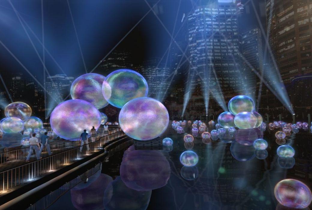 bubble installation vivid sydney 2021