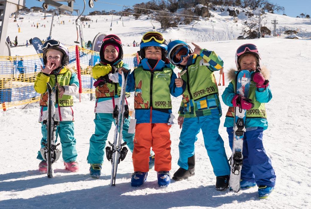 Kids having fun at Perisher Ski Resort