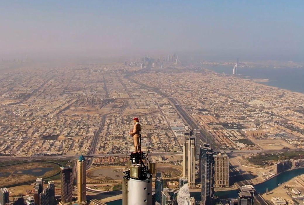 Emirates ad on burj khalifa