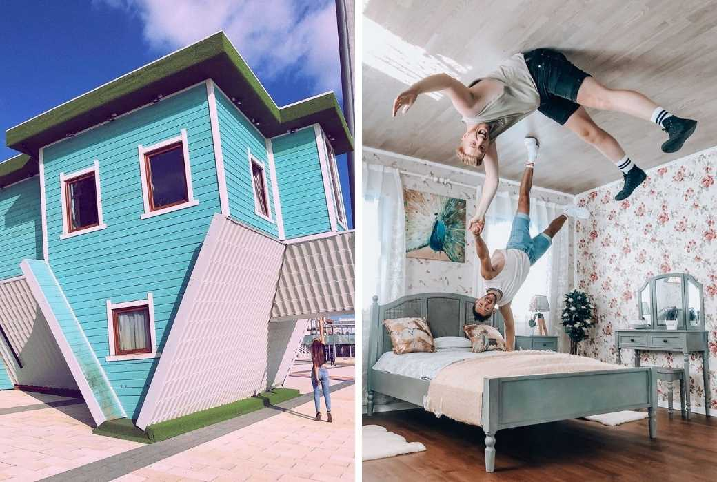 upside down house brighton UK
